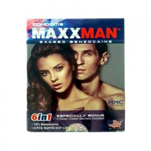 Bao cao su Maxman 6in1 thân bi, gai, râu, hương dâu kéo dài thời gian quan hệ