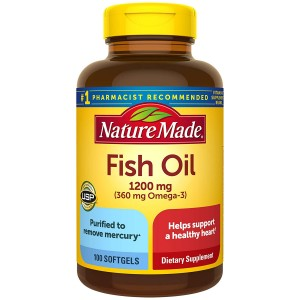 DẦU CÁ NATURE MADE FISH OIL 1200 MG 200 VIÊN  CHÍNH HÃNG MỸ