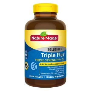 VIÊN UỐNG BỔ KHỚP NATURE MADE TRIPLE FLEX TRIPLE STRENGTH + D3, HỘP 200 VIÊN