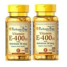 Vitamin E 400IU With Selenium 50 mcg - Chống Lão Hóa, Làm Đẹp Da