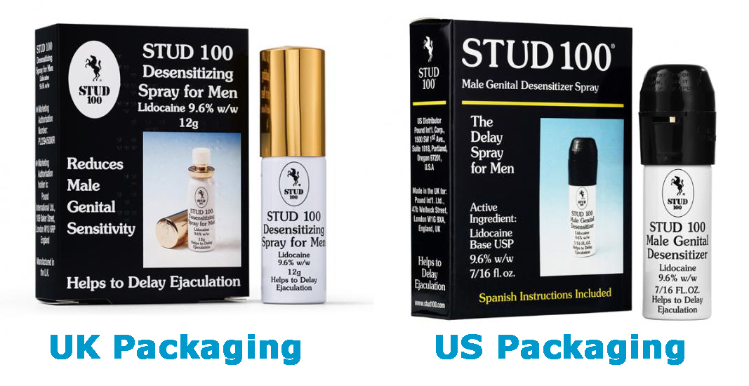 stud 100 uk vs us packaging